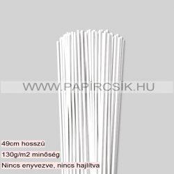 Weiß (Schneeweiß), 3mm Quilling Papierstreifen (120 Stück, 49 cm)