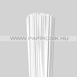 Weiß (Schneeweiß), 4mm Quilling Papierstreifen (110 Stück, 49 cm)