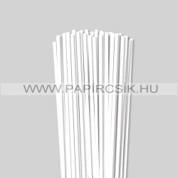 Weiß (Schneeweiß), 5mm Quilling Papierstreifen (100 Stück, 49 cm)
