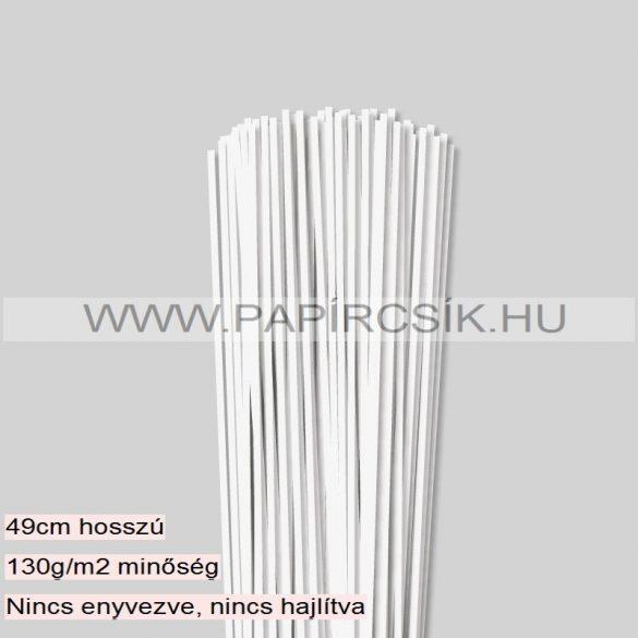 Perlweiß (Weißgrau), 3mm Quilling Papierstreifen (120 Stück, 49 cm)