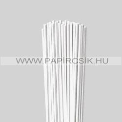 Perlweiß (Weißgrau), 4mm Quilling Papierstreifen (110 Stück, 49 cm)