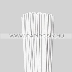 Perlweiß (Weißgrau), 5mm Quilling Papierstreifen (100 Stück, 49 cm)