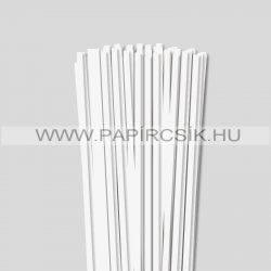 Perlweiß (Weißgrau), 6mm Quilling Papierstreifen (90 Stück, 49 cm)