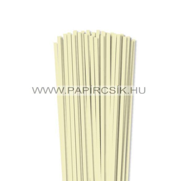 Vanille, 5mm Quilling Papierstreifen (100 Stück, 49 cm)