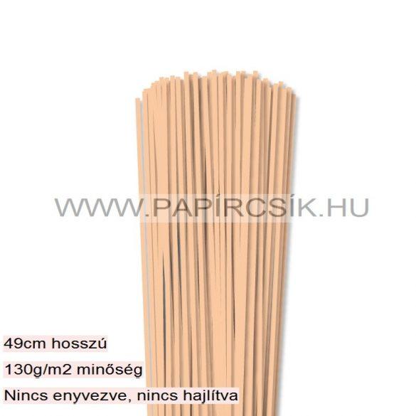 Körperfarbe / Pfirsich, 3mm Quilling Papierstreifen (120 Stück, 49 cm)