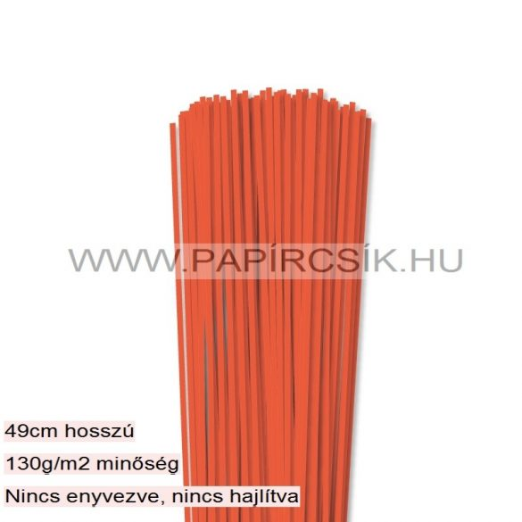 Orange, 3mm Quilling Papierstreifen (120 Stück, 49 cm)