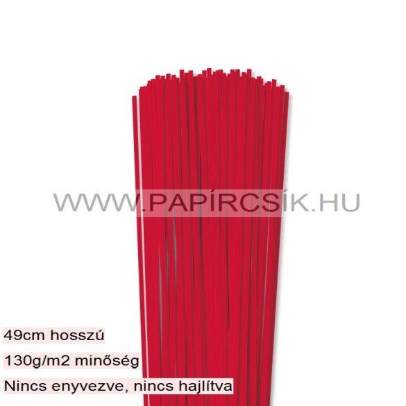Rot, 3mm Quilling Papierstreifen (120 Stück, 49 cm)