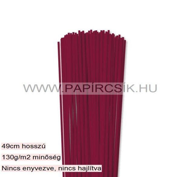Kirschfarbe, 3mm Quilling Papierstreifen (120 Stück, 49 cm)