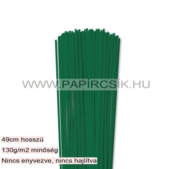 Dunkelgrün, 3mm Quilling Papierstreifen (120 Stück, 49 cm)