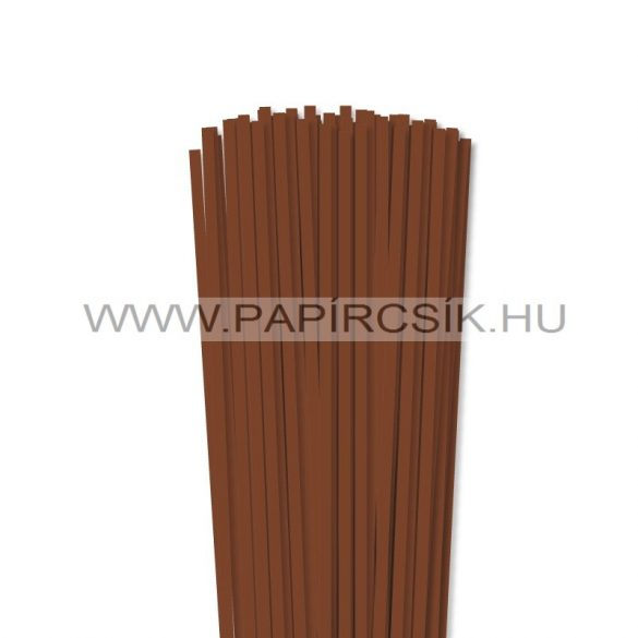 Braun, 5mm Quilling Papierstreifen (100 Stück, 49 cm)
