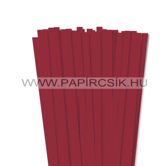 Dunkelrot, 10mm Quilling Papierstreifen (50 Stück, 49 cm)