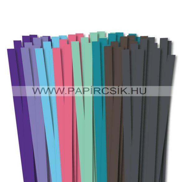 10mm Quilling Papierstreifen Starter Kit VI. (8x10stk, 49cm)