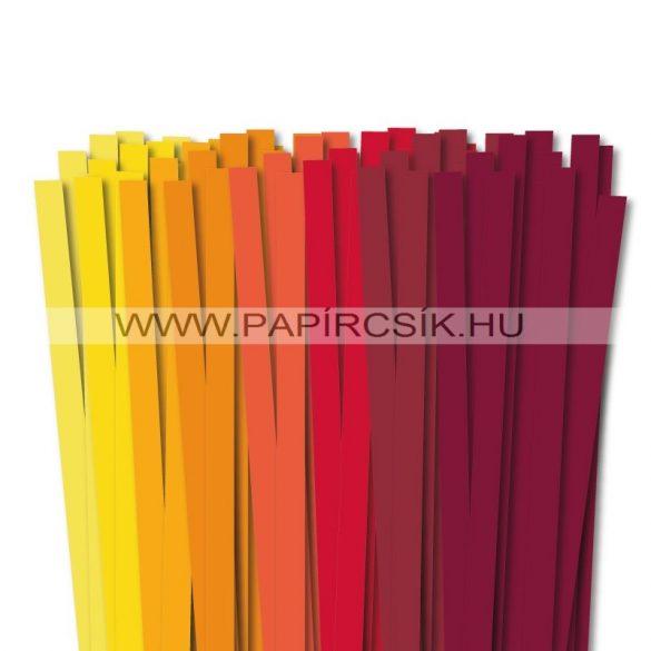 10mm Quilling Papierstreifen Starter Kit II. (8x10stk, 49cm)