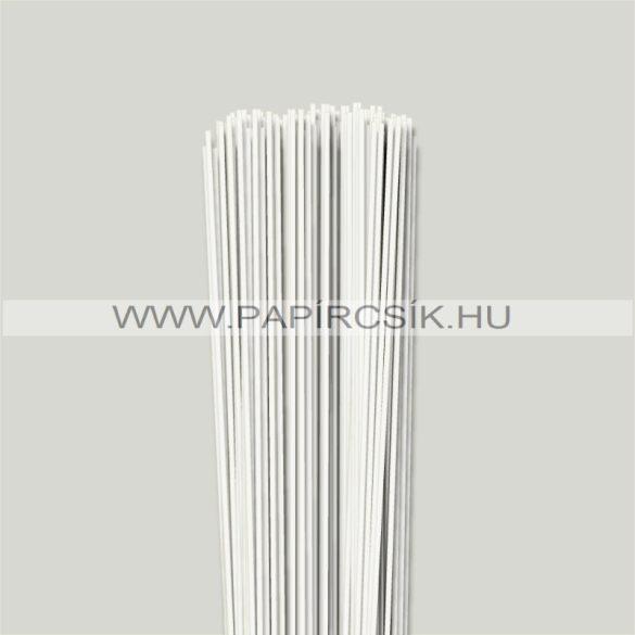 Perlweiß (Weißgrau), 2mm Quilling Papierstreifen (120 Stück, 49 cm)