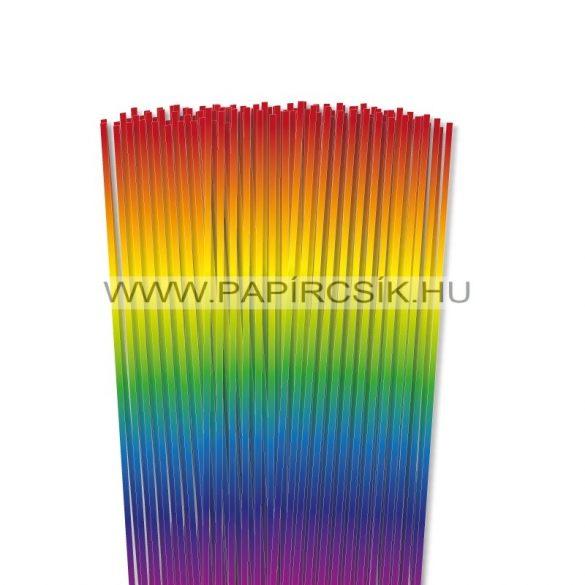 Regenbogen, 3mm-es quilling papírcsík (120Stk., 48cm)