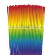 Regenbogen,  4mm Quilling Papierstreifen (110 Stück, 48 cm)