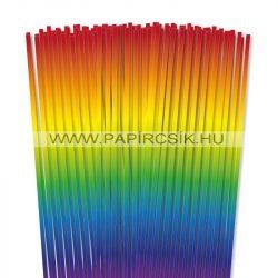 Regenbogen, 5mm Quilling Papierstreifen (100 Stück, 49 cm)