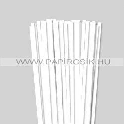 Weiß (Schneeweiß), 7mm Quilling Papierstreifen (80 Stück, 49 cm)