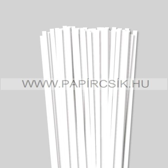 Perlweiß (Weißgrau), 7mm Quilling Papierstreifen (80 Stück, 49 cm)