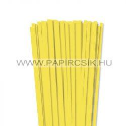 Zitronengelb, 7mm Quilling Papierstreifen (80 Stück, 49 cm)