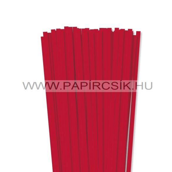 Leuchtend Rot, 7mm Quilling Papierstreifen (80 Stück, 49 cm)