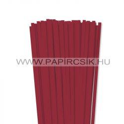 Dunkelrot, 7mm Quilling Papierstreifen (80 Stück, 49 cm)