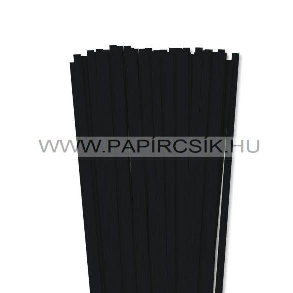 Schwarz, 7mm Quilling Papierstreifen (80 Stück, 49 cm)