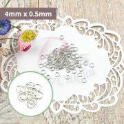 Montagering (Silber, 4mm x 0.5mm, 50Stk.)