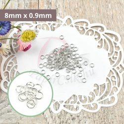 Montagering (Silber, 8mm x 0.9mm, 25Stk.)