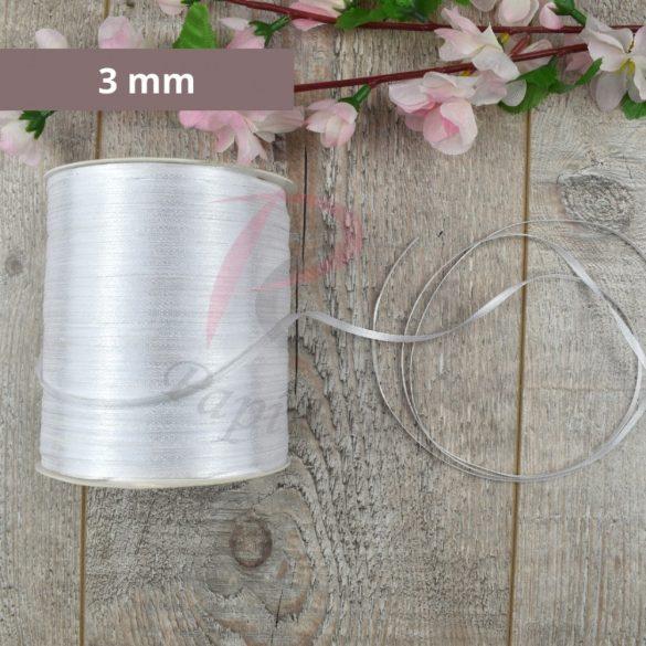 Satinband (Weiß, 3mm, 1 meter)