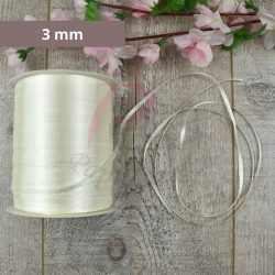 Satinband (Creme, 3mm, 1 meter)