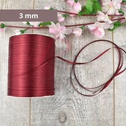 Satinband (Burgund, 3mm, 1 meter)