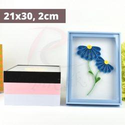 Quilling Bilderrahmen - blau (21x30, 2cm)