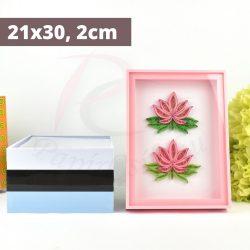 Quilling Bilderrahmen - pink (21x30, 2cm)