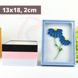 Quilling Bilderrahmen - blau (13x18, 2cm)