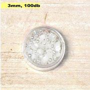 Kunststoff-Halbkugelperle, weiß (3mm, 100 Stück)