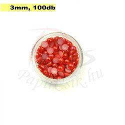 Kunststoff-Halbkugelperle, rot (3mm, 100 Stück)