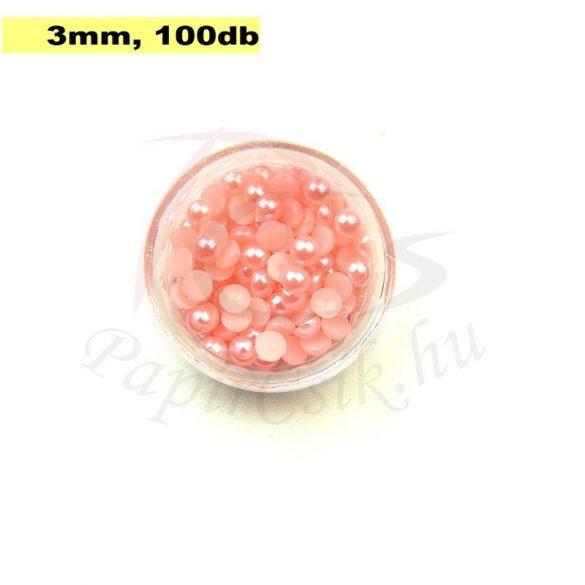Kunststoff-Halbkugelperle, rosa (3mm, 100 Stück)