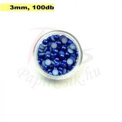 Kunststoff-Halbkugelperle, dunkelblau (3mm, 100 Stück)