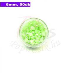 Kunststoff-Halbkugelperle, blassgrün (6mm, 50 Stück)