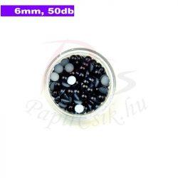 Kunststoff-Halbkugelperle, schwarz (6mm, 50 Stück)