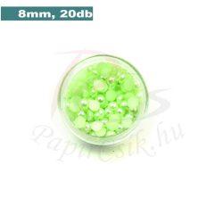Kunststoff-Halbkugelperle, blassgrün (8mm, 20 Stück)