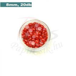 Kunststoff-Halbkugelperle, rot (8mm, 20 Stück)