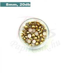 Kunststoff-Halbkugelperle, gold (8mm, 20 Stück)