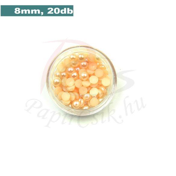 Kunststoff-Halbkugelperle, pfirsich (8mm, 20 Stück)