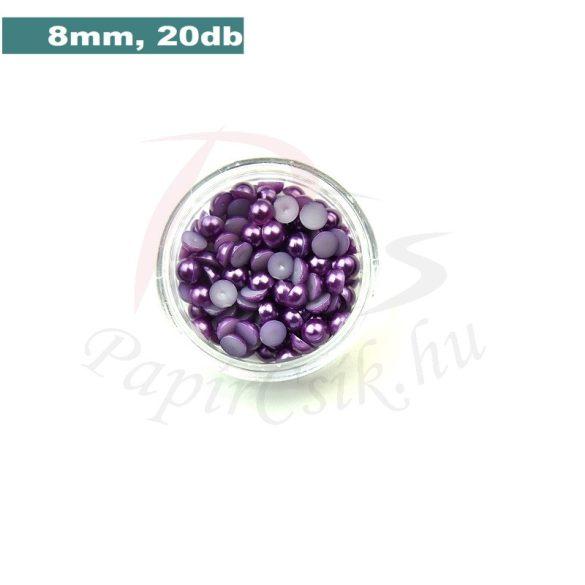 Kunststoff-Halbkugelperle, lila (8mm, 20 Stück)
