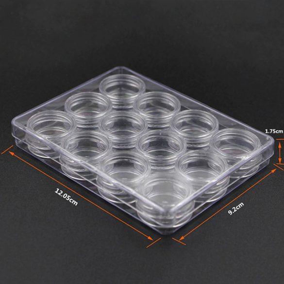 Plastikdose mit Schraube (15x30mm, 12 Stück)