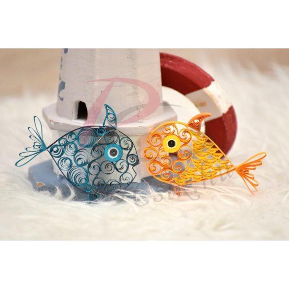 Fische - Quilling Muster (140 Stück Streifen und Beschreibung mit Bilder)