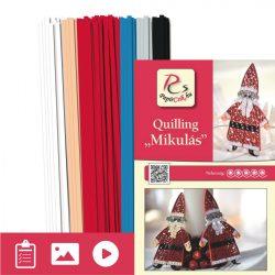 Nikolaus - Quilling Muster (200 Stück Streifen und Beschreibung mit Bilder)