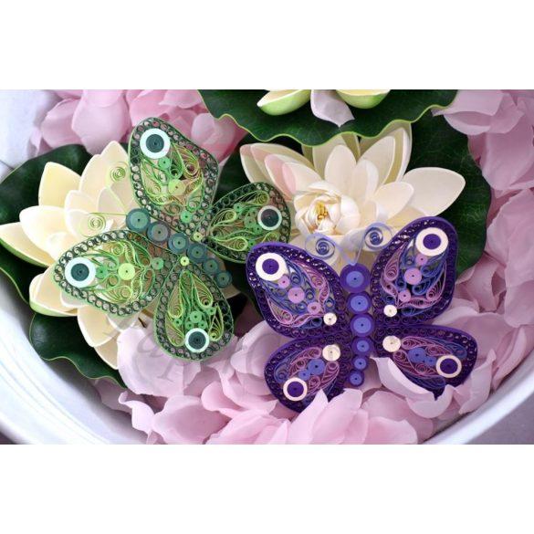 Schmetterling - Quilling Muster (210 Stück Streifen und Beschreibung mit Bilder)